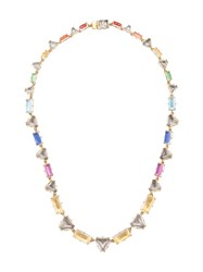 Larkspur And Hawk Caterina Multi Geometric Necklace Gold