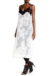 Free People Love All Day Contrast Slip Dress White