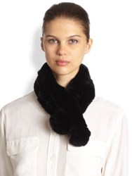 Saks Fifth Avenue Rabbit Fur Chain Scarf