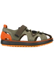 Camper Hook And Loop Sandals Green