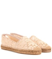 Dolce And Gabbana Lace Espadrilles Neutrals