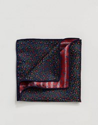 Selected Homme Pocket Square Comb5 Dark Navy Multi