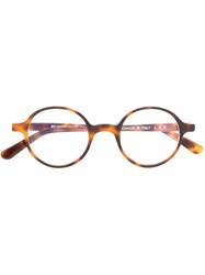 L.G.R Round Frame Glasses Brown