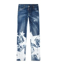 Dsquared2 White Star Cool Guy Jeans Male Blue