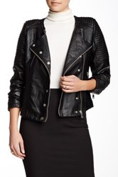 Fillmore Vegan Leather Mod Moto Jacket Black
