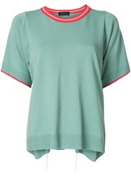 Eudon Choi Relaxed Knitted Top Green