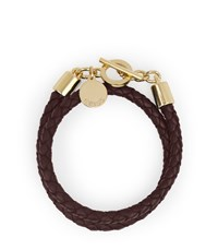 Reiss Toucan Leather And Metal Bracelet In Ox Blood