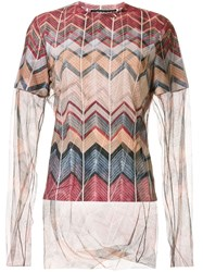 Y Project Layered Sheer Knit Top 60