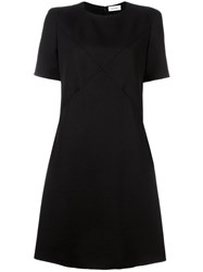 Courreges Crossover Stitching Dress Black