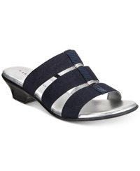 Karen Scott Erinn Slip On Sandals Created For Macy's Women's Shoes Navy