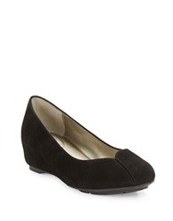 Me Too Jasmin Suede Wedges Black