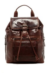 Jack Georges Spikes And Sparrow Buffalo Leather Backpack Brown