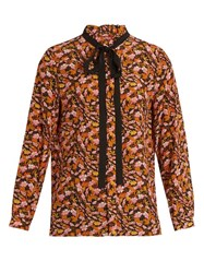 Max Mara Nina Blouse Orange Multi