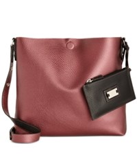 Styleandco. Style Co. Clean Cut Reversible Crossbody Only At Macy's Pearl Maroon