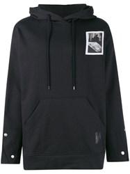 Odeur Oversized Patch Hoodie Black