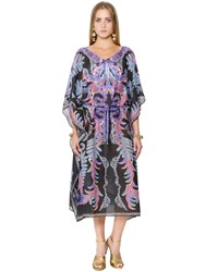 Roberto Cavalli Printed Gauze Caftan Dress
