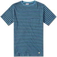 Armor Lux 71197 Stripe Pocket Tee Blue