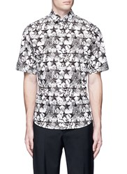 Ports 1961 Star Floral Print Short Sleeve Poplin Shirt Multi Colour