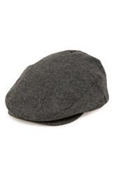 Men's Brixton 'Hooligan' Driving Cap Grey Grey Black Herringbone