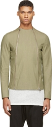 Thamanyah Army Asymmetrical Zip Jacket