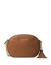 Michael Michael Kors Oval Tasseled Leather Pouch Luggage