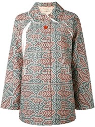 Cotelac Printed Button Up Jacket Women Cotton Polyester Acetate 2 Green