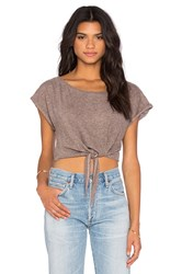 Lanston Cropped Tie Tee Gray