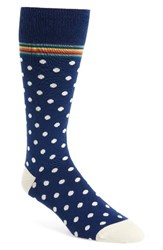 Paul Smith Men's Signature Polka Dot Socks Navy