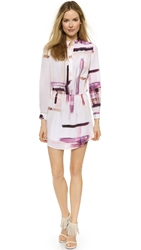 Haute Hippie Simple Henley Dress Swan Multi