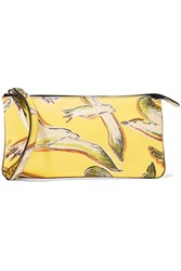 Emilio Pucci Printed Textured Leather Pouch Yellow