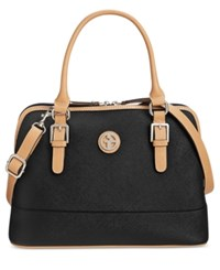 Giani Bernini Saffiano Dome Satchel Only At Macy's Black
