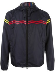 Fendi Zig Zag Hooded Windbreaker Blue