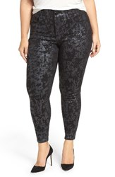 Melissa Mccarthy Seven7 Plus Size Women's Stretch Foil Print Pencil Jeans Quartz