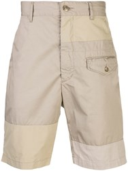 Engineered Garments Panelled Shorts Brown