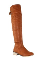 Olivia Miller Erika Buckle Riding Boot Brown