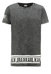 Karl Kani Alasco Print Tshirt Denim Anthracite