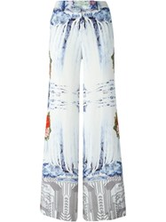 Piccione.Piccione Piccione. Piccione Natural Circuitry Palazzo Trousers White