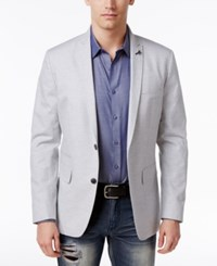Inc International Concepts Men's Slim Fit Grey Blazer Only At Macy's Light Grey