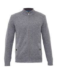 Ted Baker Men's Akela Funnel Neck Cardigan Grey