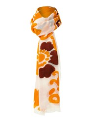 Marella Adrenne Embroidered Print Scarf Orange