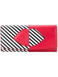 Lulu Guinness Lips Outline Wallet Red