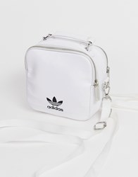 Adidas Originals White Leather Backpack