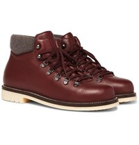 Loro Piana Laax Full Grain Leather Boots Brown