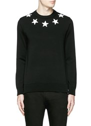 Givenchy Star Applique Cotton Sweater Black