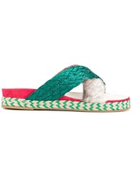 Mr And Mrs Italy Cross Over Sandals Multicolour