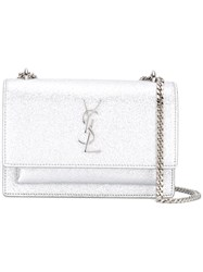 Saint Laurent Monogram Sunset Chain Wallet Women Calf Leather One Size Metallic