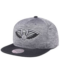 Mitchell And Ness New Orleans Pelicans Space Knit Snapback Cap Gray
