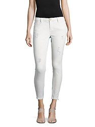 Blank Nyc Light Destruction Distressed Cropped Pants White
