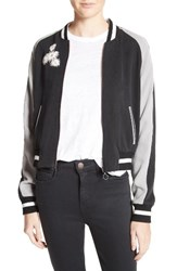Elizabeth And James Women's Willa Embroidered Reversible Bomber Jacket