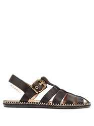 Marni Satin Fisherman Sandals Black